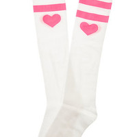 The Sweetheart Knee Socks in Light Pink