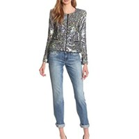 Joe's Jeans Women's Opale Sequin Jacket, Multi Color, X-Small