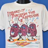 80s California Raisins I Heard It Through The Grapevine t-shirt Large