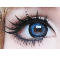 GEO Bella (XTRA) Blue Colored Circle Contacts