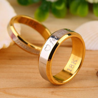 BE Fashion Forever Love Lovers Couple Matching Ring Steel Finger Ring Jewelry BP = 1929920836