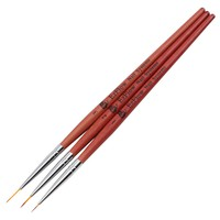 3Pcs Nail Art Wooden Painting Pen Brushes