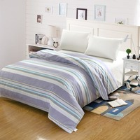 Simple stripe modern style Student child adult bedding 100% cotton twin full queen king size duvet cover quilts comforter case