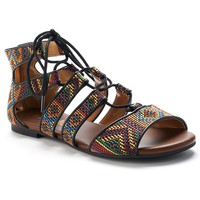 Mudd Women's Woven Lace-Up Gladiator Sandals