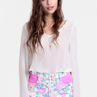 Electric Field High Waisted Shorts By MINKPINK - $62.00 : ThreadSence, Women's Indie & Bohemian Clothing, Dresses, & Accessories
