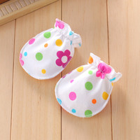 Print Infant Glove Anti Scratch Baby Gloves Cotton Boys Girls Pack Mitten Breathable Newborn Mittens Colorful Baby Accessories