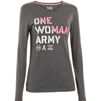 Under Armour Women's Power In Pink One Woman Army Long Sleeve Shirt