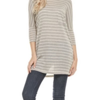 THE CHRISSY STRIPED TUNIC