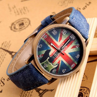 Fashion Trends Individual Wrist Watch Cowboy Skin & National Flag For Gilr and Boy = 1956412164