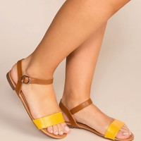 About Town Mustard Sandals
