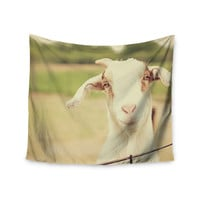 "Angie Turner ""Happy Goat"" Smiling Animal Wall Tapestry"