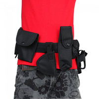 102cm Durable Tactical Duty Belt with Holsters Free Size - Default