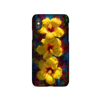 Hawaii Phone Cases with Yellow Hibiscus Flowers