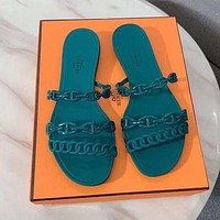 Hermes Solid color Sandal Shoes