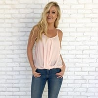 Get Twisted Top in Pale Pink