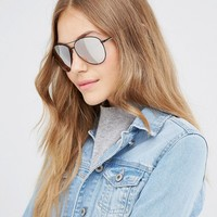 ALDO Avaitor Sunglasses with Rose Gold Flash Lens