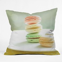 Happee Monkee Hmmm Macaroons Throw Pillow