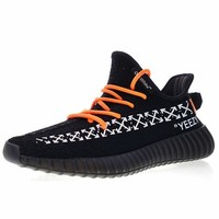 "OFF white x Adidas Yeezy 350V2 Boost Running Shoes ""OW Black"" Sneaker CP9653"