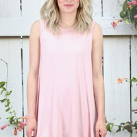 Oversized Swing Tunic Tank {Blush} - Size M/L
