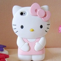 Kawaii! 3D Cute Hello Kitty Hard Case Back Cover Christmas Gift for i phone 5 5G