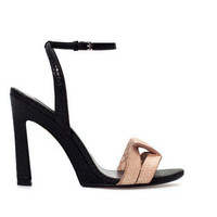 Summer Design Stylish Shoes Ankle High Heel Club Leather Sandals [4918348612]