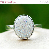 Boxing Day Sale Geode Ring,Statement Ring,Agate Ring,Sparkle Ring,Druzy Ring,Drusy Ring,Drusy Quartz,Stone Ring,925 Sterling Silver