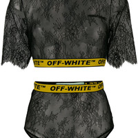 Off-White Lace two-piece Set - Farfetch