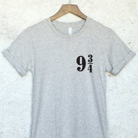 Platform 9 3/4 Harry Potter Shirt in Grey