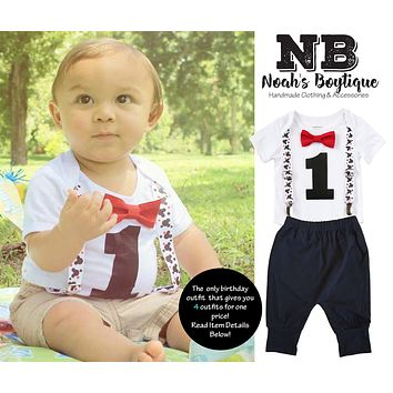 Mickey Mouse First Birthday Party Outfit Boy With Black Pants