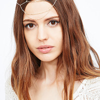 Delicate Head Chain in Gold - Urban Outfitters
