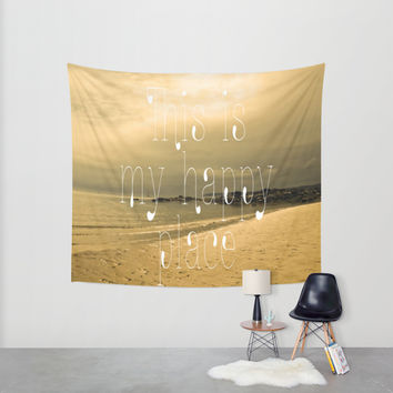 Happy Place Wall Tapestry by Alice Gosling