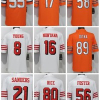 2018 Men 55 Chubb 15 Mahomes ll 17 Miller 58 Smith 89 Ditka 29 Fitzpatrick 8 Young 16 Montana 21 Sanders Jersey  49ers
