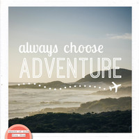 Square printable quote, digital download, Always Choose Adventure, ocean, sunset sky, inspirational wall art, South Africa, typography print