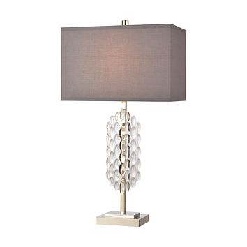 Icy Reception Table Lamp in Clear and Chrome