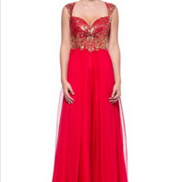 KC131544 Red Prom Dress Evening Gown by Kari Chang Couture