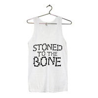 Stoned to the Bone Grunge Tank Top UNISEX American Apparel Sizes S, M, L, XL