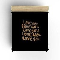 Love You-Gold on Black