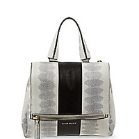Givenchy - Pandora Pure Small Striped Watersnake Shoulder Bag - Saks Fifth Avenue Mobile