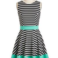 ModCloth Colorblocking Mid-length Sleeveless Fit & Flare Always Amiable Dress
