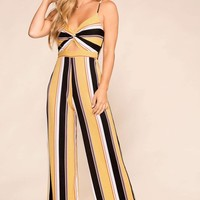 Sunday Afternoon Striped Jumpsuit