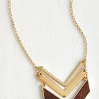 Boho Terrace at my Heartstrings Necklace in Wood by ModCloth