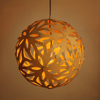 Free Shipping Wooden Snowflake Chandelie Pendant Lamp Lighting Fixture Bedroom Cafe Living Room Decoration