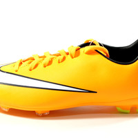 Nike Youth's Mercurial Victory V FG Orange/White Soccer Cleats