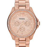 Fossil Watch, Women's Cecile Rose Gold-Tone Stainless Steel Bracelet 40mm AM4483