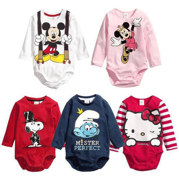 Choice of Cartoon Baby Romper Onesuits