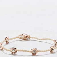 AEO Women's Rose Gold Bead Anklet (Rose Gold)