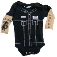 SOA Sons of Anarchy Vertical Reaper Infant Baby Romper Snapsuit (12-18 Months)