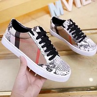 BURBERRY Fashionable Women Casual Canvas Sneakers Sport Shoes