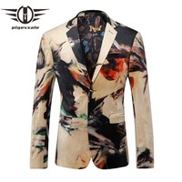 Men Blazer Luxury Designer Colorful Men Blazer Jacket Fancy Suit Jacket Prom Blazers
