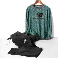 New balance Casual Print Hoodie Top Sweater Pants Trousers Set Two-piece Sportswear G-MLDWX